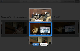 The user can manually edit a video compilation by selecting alternative clips